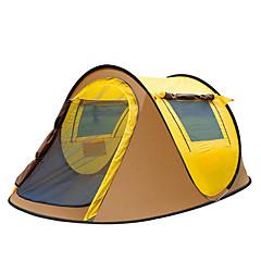 2 personer Telt Enkelt camping Tent Ett Rom Pop opp telt Vanntett Bærbar Vindtett Regn-sikker Anti-Insekt Pusteevne Komprimering Myggvern