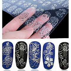baratos -108 etiquetas de prata da arte do prego da flor dos PCes 3d que carimbam ferramentas diy da decoração da etiqueta oca
