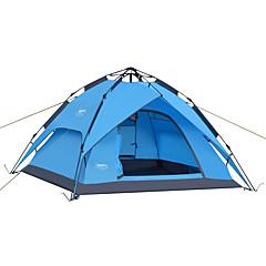 DesertFox® 3-4 personer Telt Dobbelt camping Tent Ett Rom Automatisk Telt Vanntett Regn-sikker til Camping 2000-3000 mm Oxford CM
