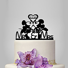 cheap Cake Toppers-Cake Topper Classic Theme Fairytale Theme Funny & Reluctant Acrylic Wedding Anniversary Bridal Shower Quinceañera & Sweet Sixteen Baby