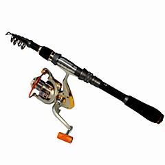 Spinning Rod Telespin Rod Carp Rod Fishing Rod Surf Rod Fishing Rod + Reel Telespin Rod Plastic Metal Aluminium EVA Carbon