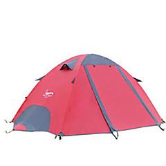 DesertFox® 2 Persoons Tent Dubbel Kampeer tent Eèn Kamer Opgevouwen Tent waterdicht Regenbestendig voor Kamperen 2000-3000 mm Oxford CM