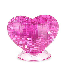 cheap -3D Puzzles Crystal Puzzles Toys Heart-Shaped Roses 3D Heart Plastic Not Specified Pieces