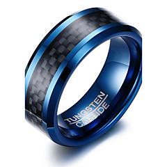 男性用 指輪 ベーシック ファッション あり 欧米の シンプルなスタイル コスチュームジュエリー タングステン合金 円形 幾何学形 ジュエリー 用途 パーティー 誕生日 日常 カジュアル スポーツ