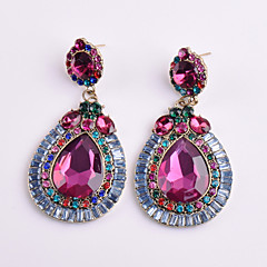 Women's Drop Earrings Crystal Geometric Floral Costume Jewelry Crystal Alloy Geometric Jewelry For Party Daily Casual