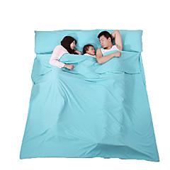 Fengtu 寝袋ライナー 屋内用 23°C 防湿 折り畳み式 ビデオ圧縮 長方形 通気性 210X180 旅行 屋内 Fengtu フル 幅200 x 長さ230cm