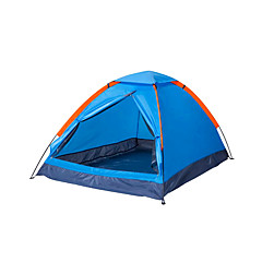 billige Telt og ly-2 personer Telt Enkelt camping Tent Ett Rom Brette Telt Fukt-sikker Velventilert Vanntett Bærbar Vindtett Ultraviolet Motstandsdyktig