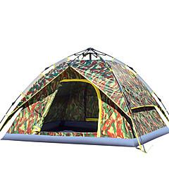 billige Telt og ly-3-4 personer Telt Dobbelt camping Tent Utendørs Automatisk Telt Fukt-sikker Vanntett Vindtett Regn-sikker til Vandring Fisking Camping