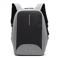 cheap Laptop Bags-15.6 inch Laptop Stitching Business Waterproof Nylon Cloth with USB Charging Port notebook Bag  Backpack for   Dell/HP/Lenovo/Sony/Acer/Surface etc