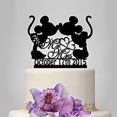 Kakepynt Personalisert Artig & Underspillet Akryl Bryllup Jubileum Utdrikkingslag Klassisk Tema Eventyr Tema OPP