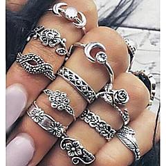 Mulheres Anéis Meio Dedo Vintage bijuterias Liga Jóias Para Diário