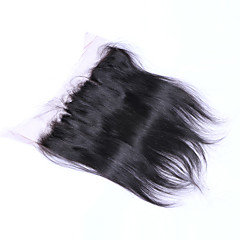billiga Peruker och hårförlängning-Brasilianskt Klassisk Rak 4x13 Stängning Schweizisk spetsperuk Äkta hår Fria delen Mittparti 3 Del Hög kvalitet Dagligen