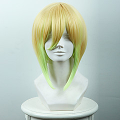 billige Kostymeparykk-Syntetiske parykker / Kostymeparykker Rett Syntetisk hår Parykk Dame Kort Cosplay-parykk Lokkløs
