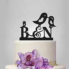 Figurky na svatební dort Přizpůsobeno Monogram Akryl Svatba Výročí Párty pro nevěstu Zahradní motiv Klasický motiv Pohádkový motiv OPP