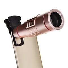 18x evrensel alüminyum optik zoom, mini tripodlu akıllı telefon ile metal teleskop uzun odaklı lens -pink