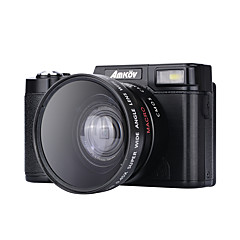 Digitalkamera amk-cdr2 maks 24mp rullende 3 tommers hd tft skjerm 4x digital zoom videokamera 1080p svart