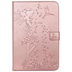 Tapauksen kansi kortin haltija lompakon jalustalla läppä kohokuvioitu kokovartalo tapauksessa seksikäs nainen kissa perhonen kova PU nahka