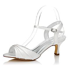 Damen Hochzeit Schuhe Komfort einfärbbar Schuhe Seide Frühling Sommer Kleid Party & Festivität Komfort einfärbbar Schuhe Niedriger Absatz