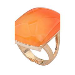 billige Motering-Herre Logo Ring - Harpiks, Legering Statement, Personalisert, Geometrisk En størrelse Svart / Oransje Til Julegaver Bryllup Fest