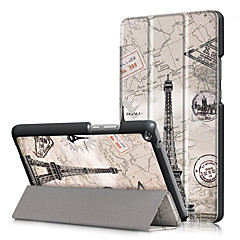 billige Nettbrettetuier-Etui Til Huawei Heldekkende etui Tablet Cases Hard PU Leather til