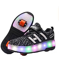Děti LED světlo Obuv na skate Lehké materiály Vodní modrá/Černá/Světlá růžová