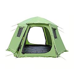 billige Telt og ly-5-8 personer Telt Dobbelt camping Tent Ett Rom Automatisk Telt Fukt-sikker Vanntett til Camping Utendørs Innendørs >3000 mm CM