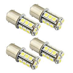 hesapli -4pcs 1156 / ba15s / 1157 3w led araba ampul 18 smd 5050 fermuar / fren / dönüş / dur ışık dc 12v beyaz / sıcak beyaz