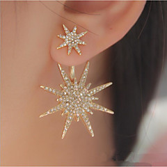 cheap Earrings-Women's 1 Stud Earrings Drop Earrings Unique Design Logo Style Fashion Alloy Star Jewelry Gold Silver Wedding Party Special Occasion