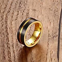 Yüzük Nişan yüzüğü Moda Kişiselleştirilmiş Klasik Volfram Çelik 18K altın Round Shape Mücevher Için Düğün Parti Nişan Günlük 1 Set