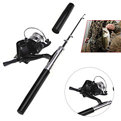 Aluminum Alloy Ice Fishing Rod Fibre Glass 100 cm Ice Fishing 5 sections Rod & Reel Combos Fast (F) Medium (M)