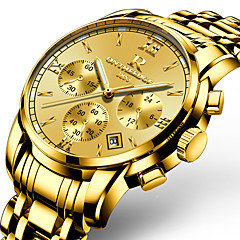 Herrn Militäruhr Kleideruhr Modeuhr Armbanduhr Armband-Uhr Armbanduhren für den Alltag Japanisch Quartz Kalender Nachts leuchtend