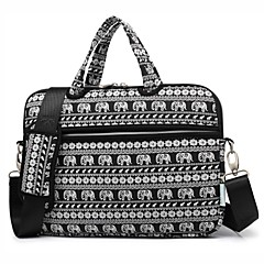 cheap Laptop Bags-13.3 14.1 15.6 inch Cute Animal Elephant Laptop Shoulder Bag with Strap Hand Bag for Surface/Dell/HP/Samsung/Sony etc