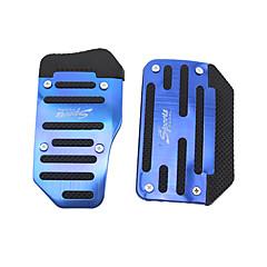 cheap Car Pedals-Silver 2PCS Auto Manual Pedal Pad