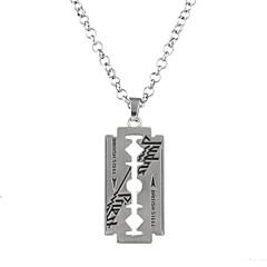 voordelige -Heren Dames Vierkant Geometrische vorm Religieuze sieraden Luxe Cirkelvormig ontwerp Duurzaam oversteekplaats Punk Hip-hop Rock
