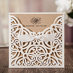cheap Wedding Invitations-Wrap & Pocket Wedding Invitations 10 - Invitation Cards Classic Style Embossed Paper