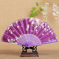 cheap Fans & Parasols-The Pretty Floral Waved Hand Fan  Random Pattern  (Set of 4)