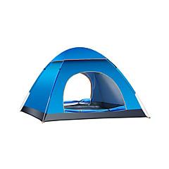 billige Telt og ly-4 personer Turtelt Enkelt Automatisk Kuppel camping Tent Utendørs Vanntett, Hold Varm til Camping & Fjellvandring / Camping Oxford