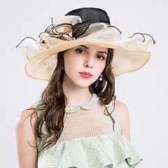 cheap Party Hats-Silk Organza Hats 1 Wedding Special Occasion Party / Evening Casual Outdoor Headpiece