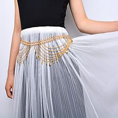 tanie Piercing-Damskie Biżuteria Łańcuszek na brzuch Stop Gold Silver Kropla Modny Biżuteria kostiumowa Na Etap Outdoor oděvy Wyjściowe Lato
