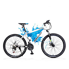 אופני הרים רכיבת אופניים 21 מהיר 700CC/26 אינץ' SHIMANO TX30 דיסק בלימה כפול מזלג שיכוך שלדת פלדה פחמן רגיל נגד החלקה אלומיניום