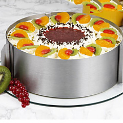 tanie Przybory do pieczenia-Narzędzia do pieczenia Stal nierdzewna Syntetyczny Stal Wielofunkcyjny Nieprzylepny Narzędzie do pieczenia Akcesoria kuchenne Tort Zaokrąglony Foremki do ciasta 1 szt.