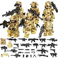 voordelige Constructiespeelgoed-DILONG Bouwblokken / Blokken minifiguren / Educatief speelgoed 106 pcs Militair / Krijger Unisex Geschenk