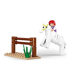 אבני בניין פאזל צעצועים ריבוע סוס חתיכות יוניסקס יום הולדת מתנות