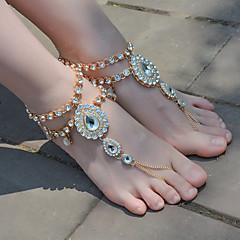 tanie Piercing-Sandały Barefoot - Damskie Gold Silver Łańcuszek na kostkę Na Na co dzień Codzienny Outdoor oděvy