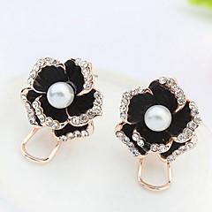 Pentru femei Fete Cercei Stud Ștras Imitație de PerleDesign Basic Design Unic Perle Prietenie Englezesc Clasic Elegant Floral Durabil