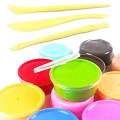 12 renk süper hafif kil seti diy sihirli hava kurutma sfero akıllı plasticine elastik gıda sınıfı güvenlik yumuşak polimer kil&3 araç