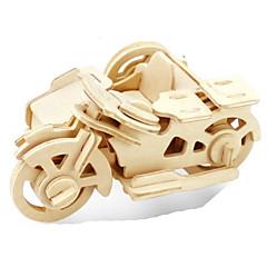 baratos -Quebra-Cabeças 3D Quebra-Cabeça Quebra-Cabeças de Metal Modelos de madeira Brinquedos de Montar Moto Faça Você Mesmo Madeira Madeira