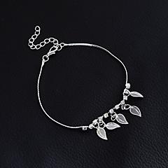 tanie Piercing-Artystyczny Leaf Shape Sandały Barefoot - Damskie Dla dziewczynek Gold Silver Łańcuszek na kostkę Na Święta Bożego Narodzenia Ślub