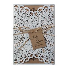 Portti-taitos Hääkutsut-Kutsukortit Kutsunäyte Äitienpäiväkortit Baby Shower -kutsut Morsiuskutsukortit Kihlajaiskutsut Vintage tyyli