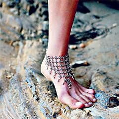 tanie Piercing-Damskie Łańcuszek na kostkę Kwiat Stop Modny Sandały Barefoot Silver Biżuteria Na Codzienny Casual Outdoor oděvy Wyjściowe